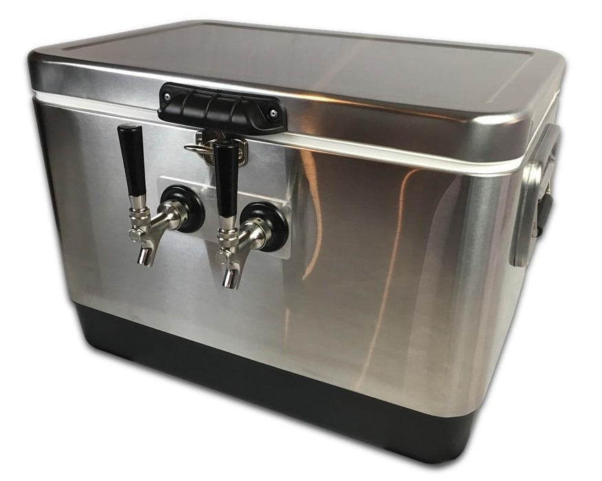 Coldbreak Stainless Jockey Box with two taps