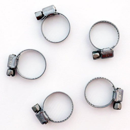 "Worm Gear Clamp #2 stainless 1/4"" - 7/8"" OD (10 Pack)"