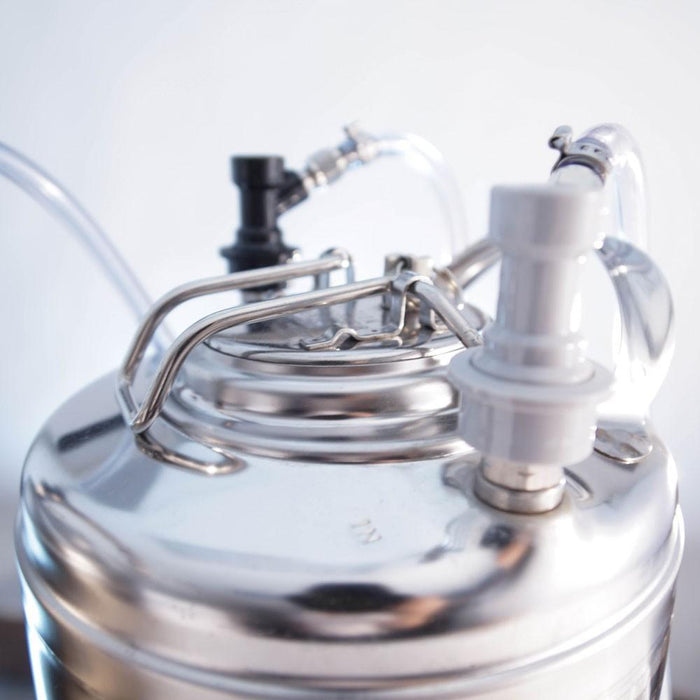Draft Brewer® Twin Keg System's keg top view
