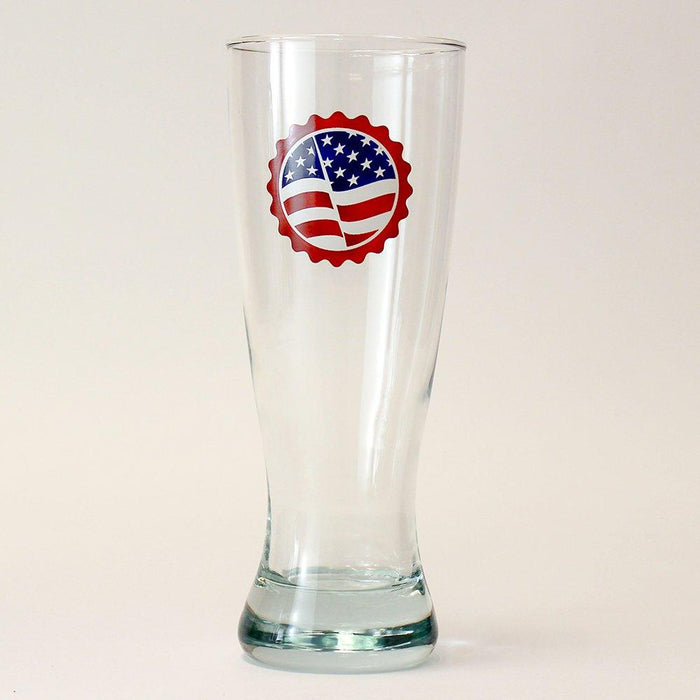 Liberty and Homebrew for All Patriotic Pilsner Glass - 20 oz.