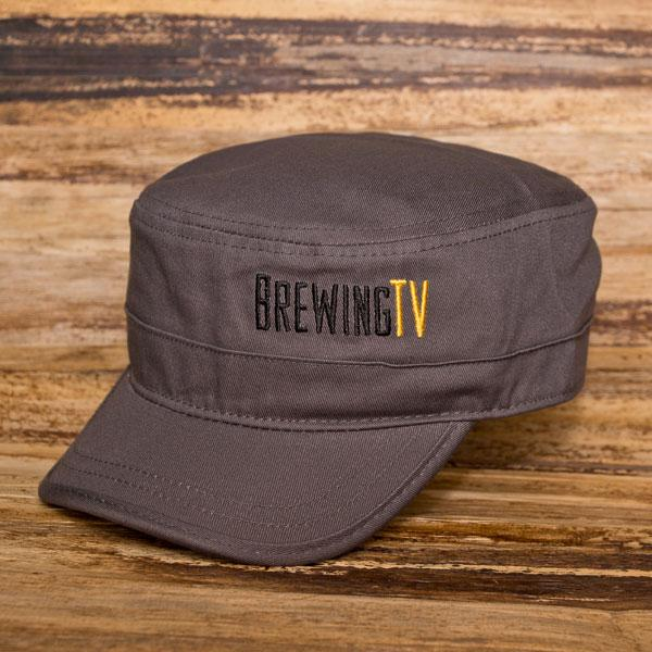 The Brewing TV Castro Hat on a wooden background
