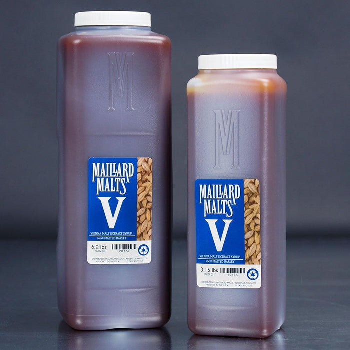 Two Maillard Malts Vienna Malt Extract Syrup containers