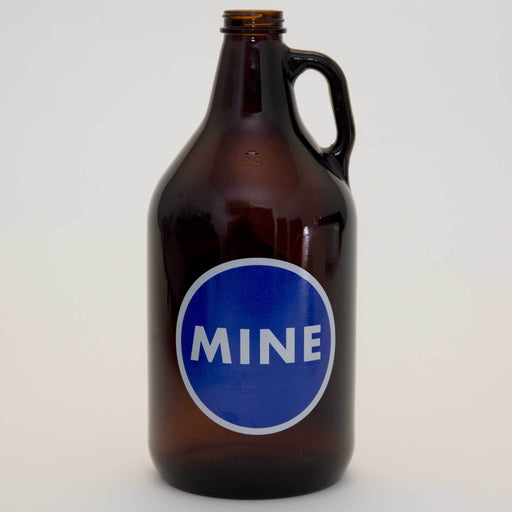 MINE Growler with Cap (front)