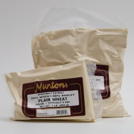 One and three pound bags of Mutons wheat dry malt extract