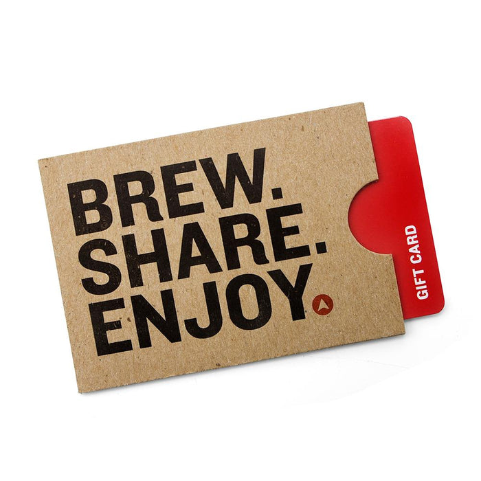 Northern Brewer Gift Card within a card sleeve