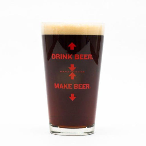 Make Beer Pint Glass (front)