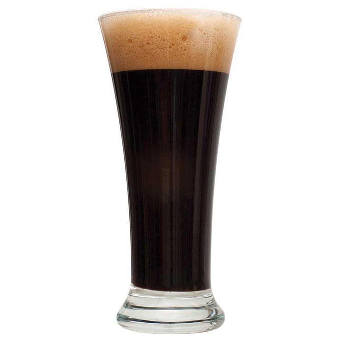 Black IPA homebrew in a drinking glass