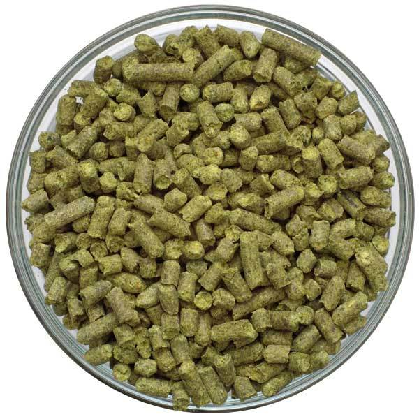 Palisade® Hop Pellets in a display bowl