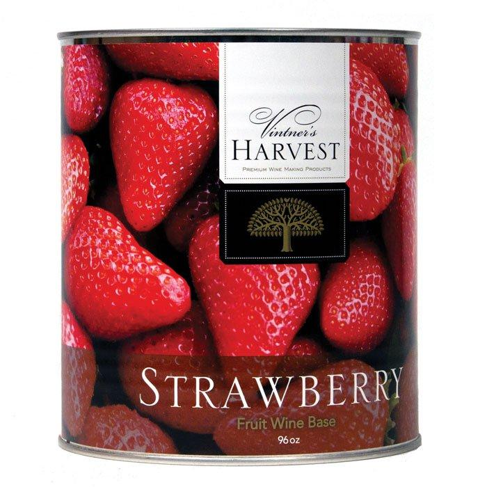 A can of Vintner's Harvest Strawberry Fruit Base