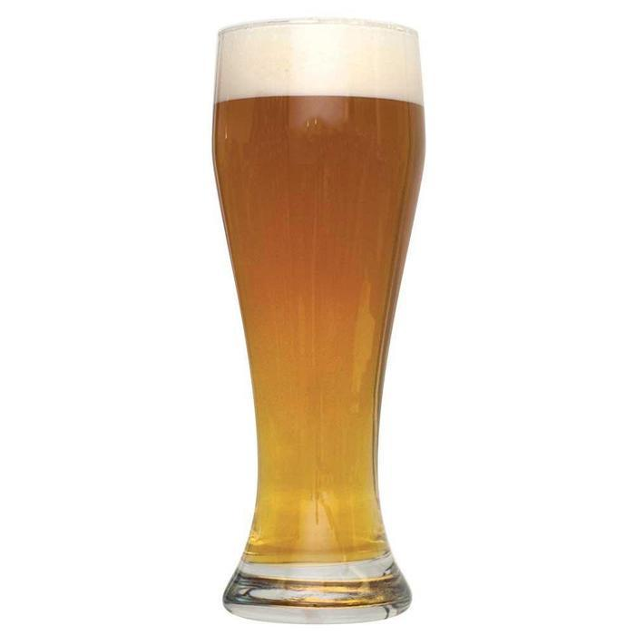 Bavarian Hefeweizen homebrew in a tall glass