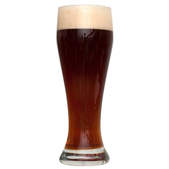 Dunkelweizen homebrew in a tall glass