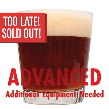 "Dundalk Irish Heavy in a short glass with ""Too late! Sold out!"" written in a red box, and ""Advanced, additional equipment needed"" text at the bottom"