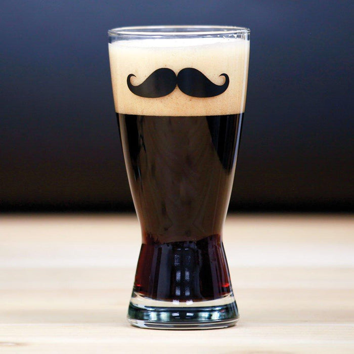 Mustache Envy Belgian Stout in a drinking glass