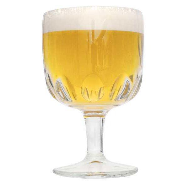 Belgian Tripel Extract Kit's produced homebrew in a glass