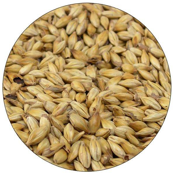 Close-up view of Simpsons Crystal Light malt