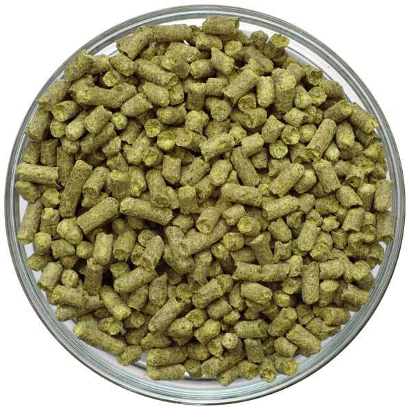 US Magnum Hop Pellets in a bowl