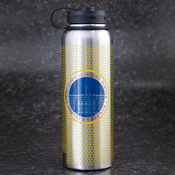 White House Honey Porter Stainless Steel Growler