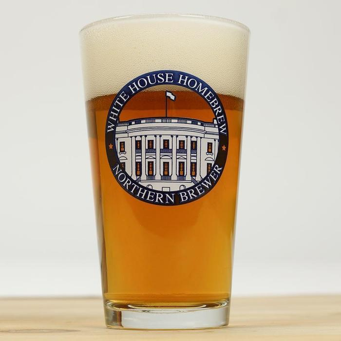 Northern brewer white house honey ale in a white house-brand glass