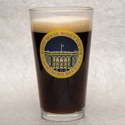 Boxed White House Honey Porter Pint Glass (full)