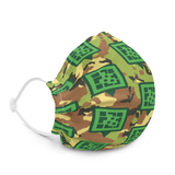 QR Icon Camo Print Premium face mask