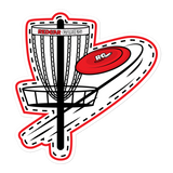 Flat Disc Golf Basket Decal