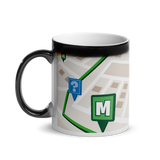 Munzee Map Glossy Magic Mug