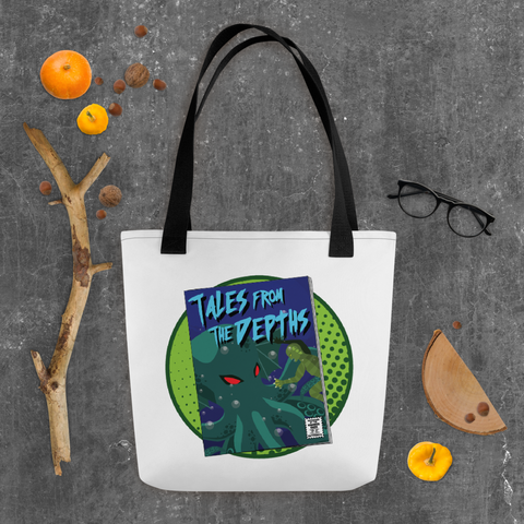 Tales from the Depths! Tote bag