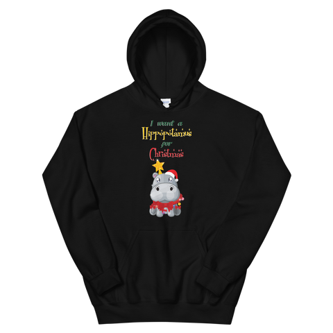 I Want a Hippopotamus for Christmas Unisex Hoodie