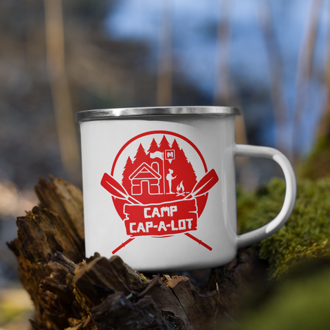 Camp Cap-A-Lot Enamel Mug