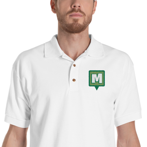 Munzee Pin Embroidered Polo Shirt