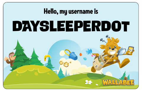 WallaBee Nametag