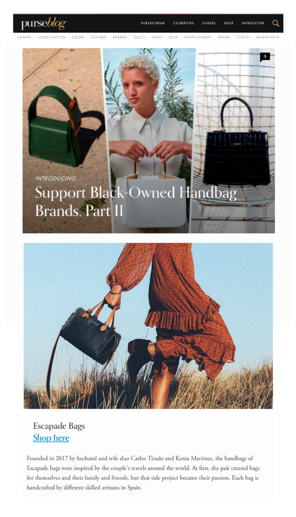 Handcrafted Leather Bags PurseBlog