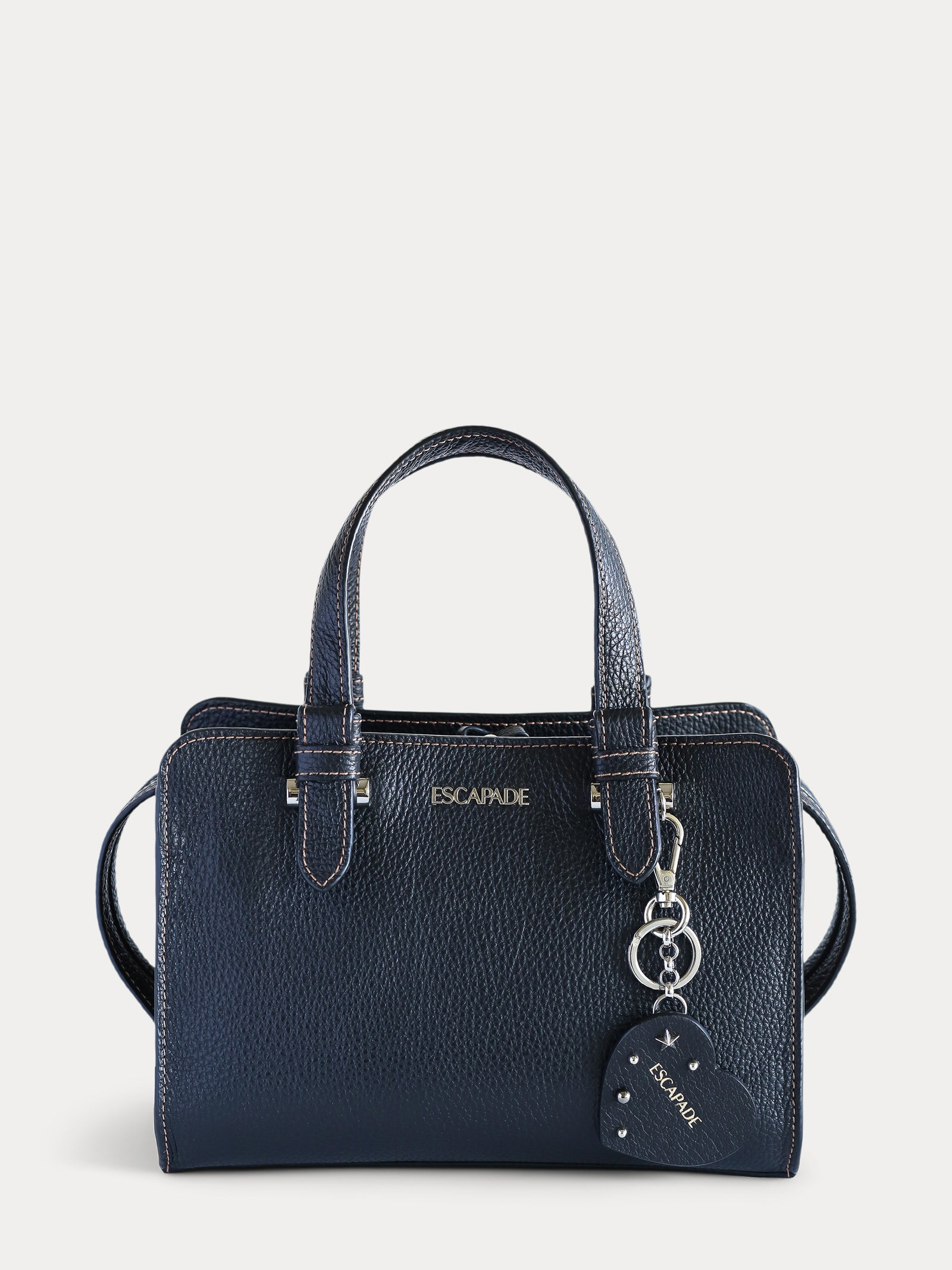 Soho Chic. Black Satchel Bag.