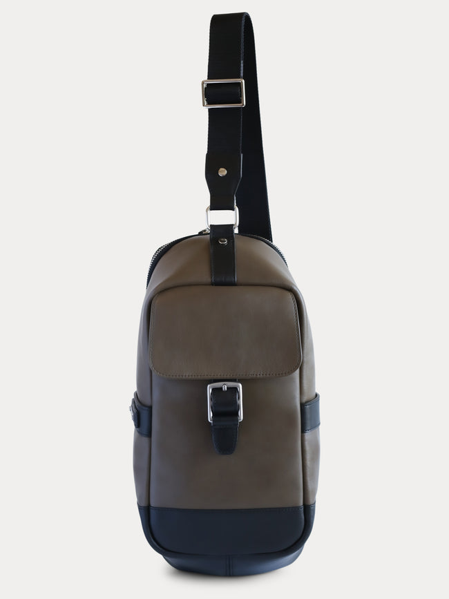 Bronxville Sling Backpack (Sage and Black)
