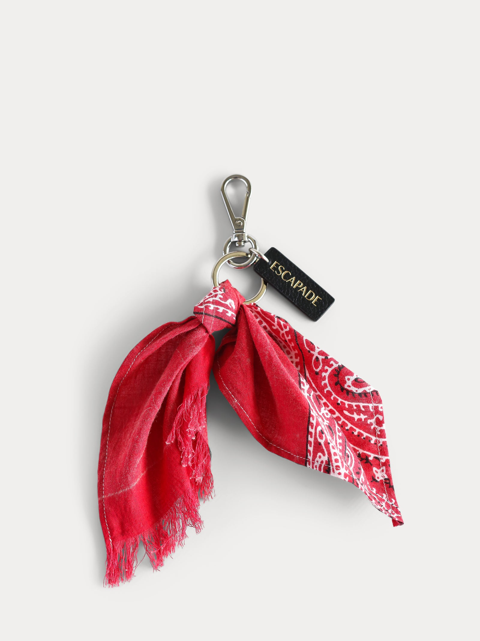 Red Vintage Bandanna Key Ring / Bag Charm