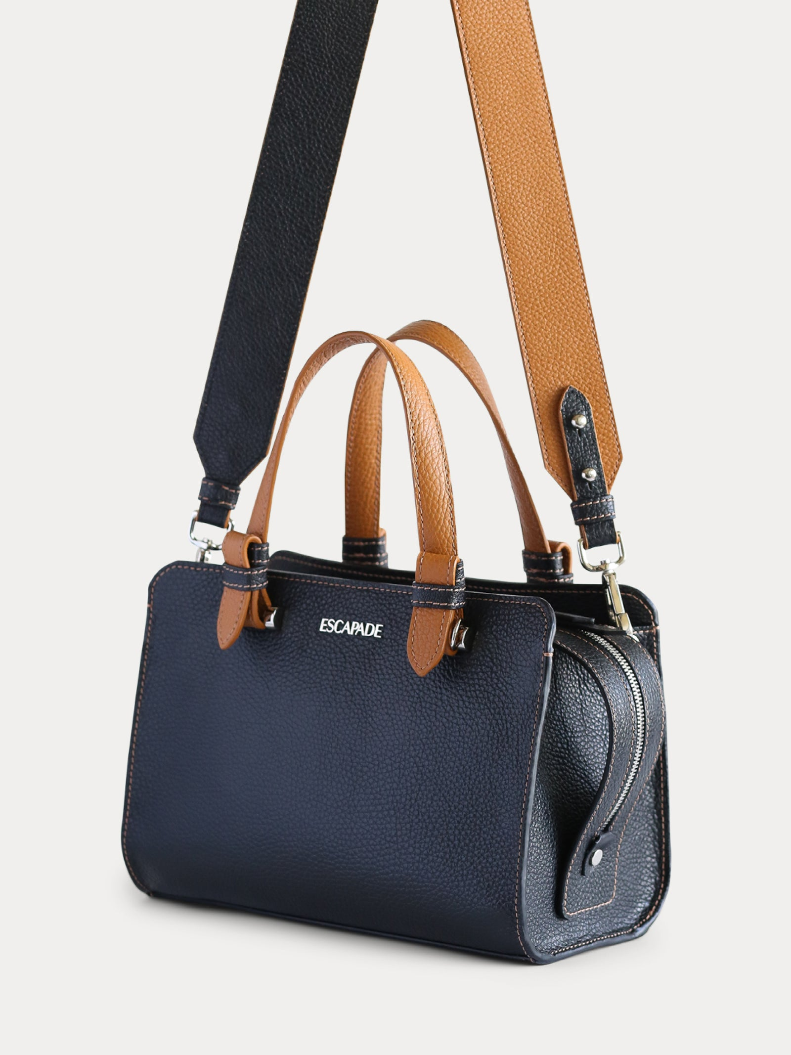 Soho Chic. Leather Satchel Bag.