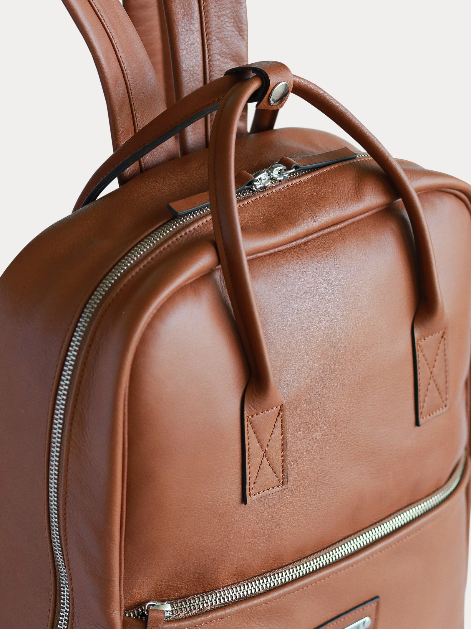 handmade designer italian leather backpack