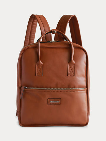 New York Leather Backpack (Camel Color)
