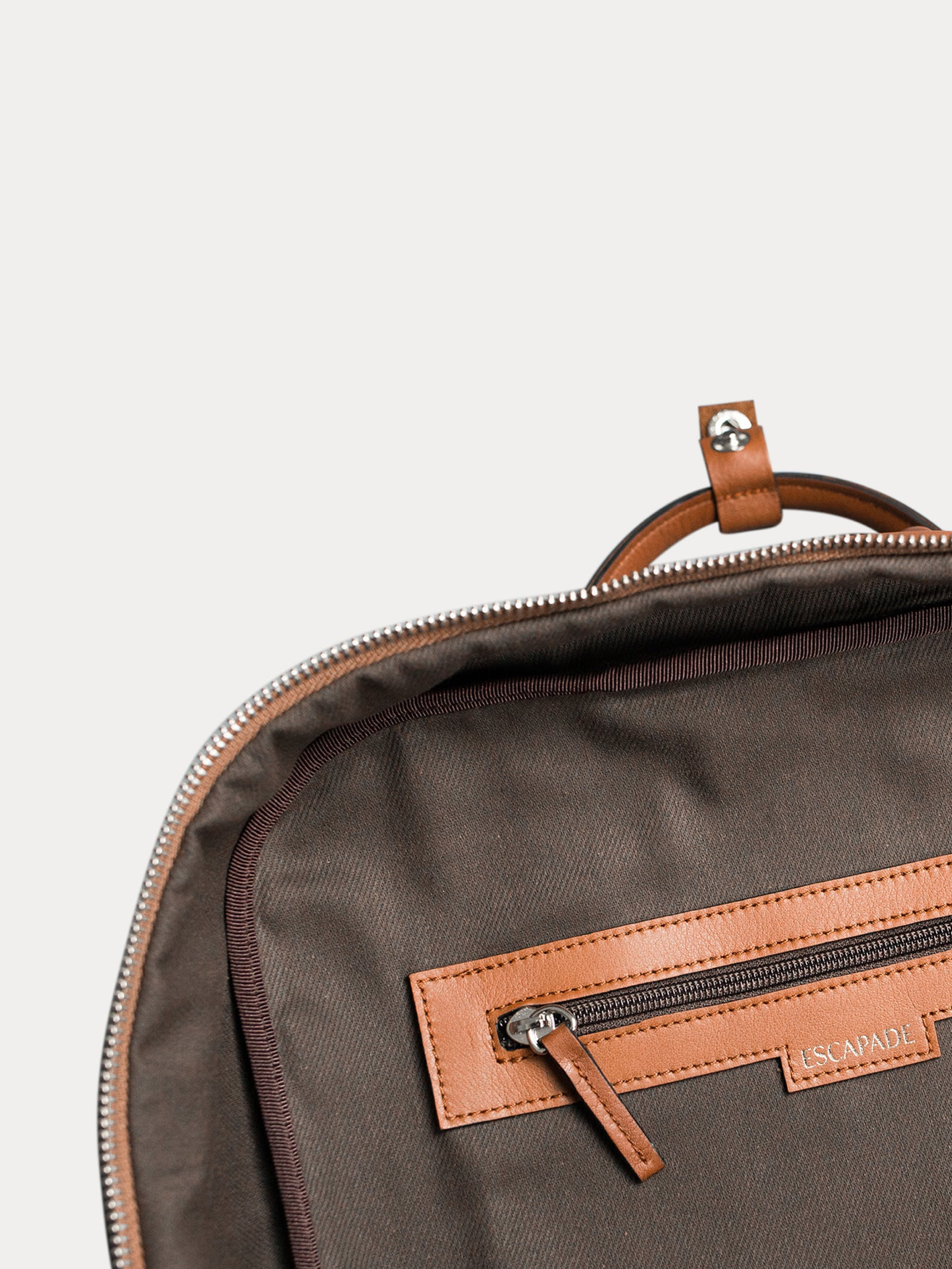 interior lined designer leather  backpack