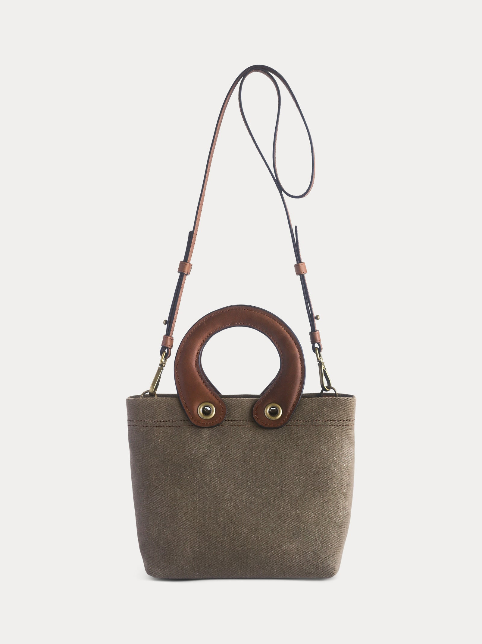 brown canvas tote bag