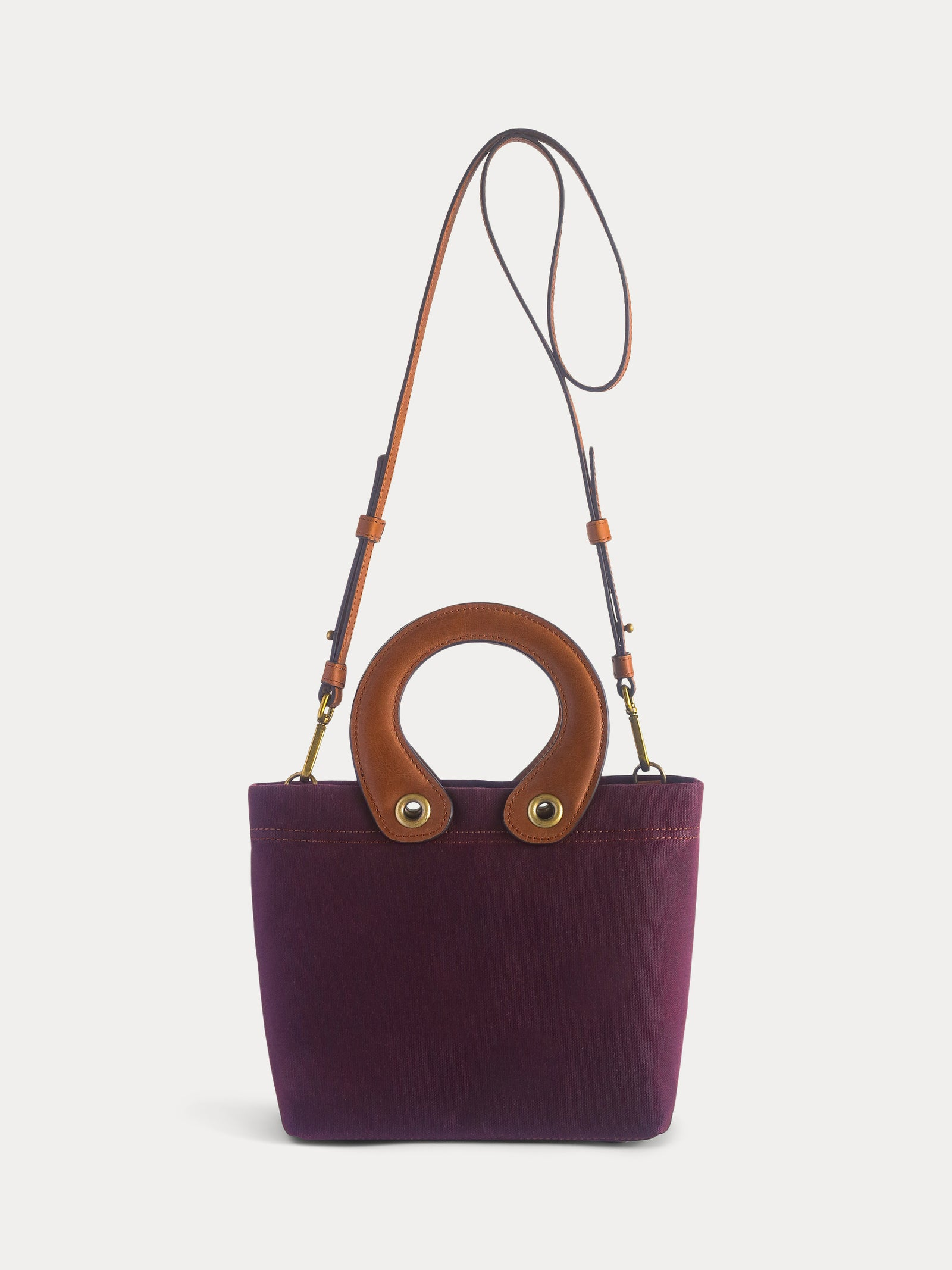 burgundy mini tote bag