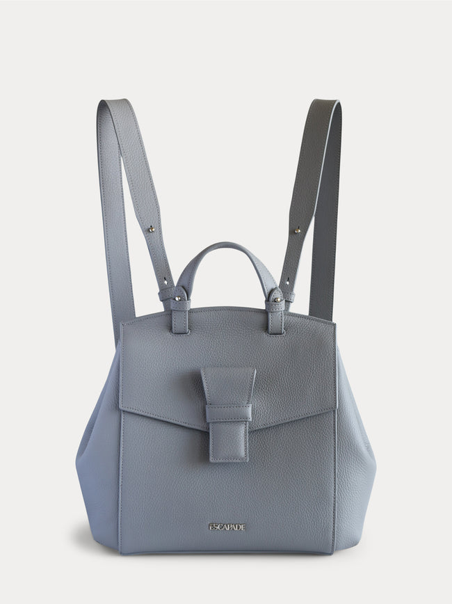 Convertible leather tote bag