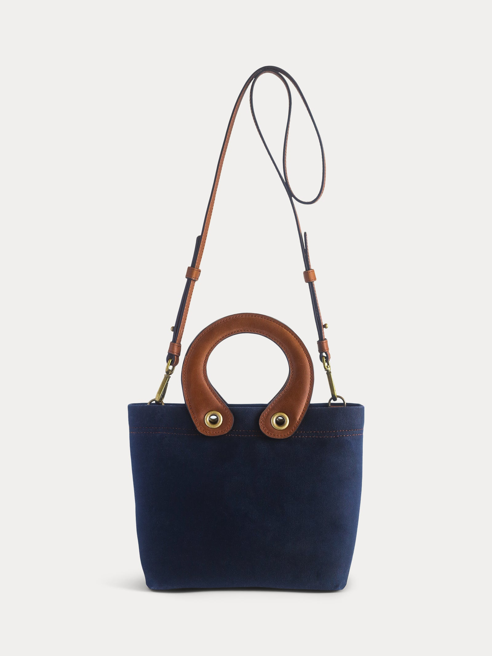 dark blue tote bag