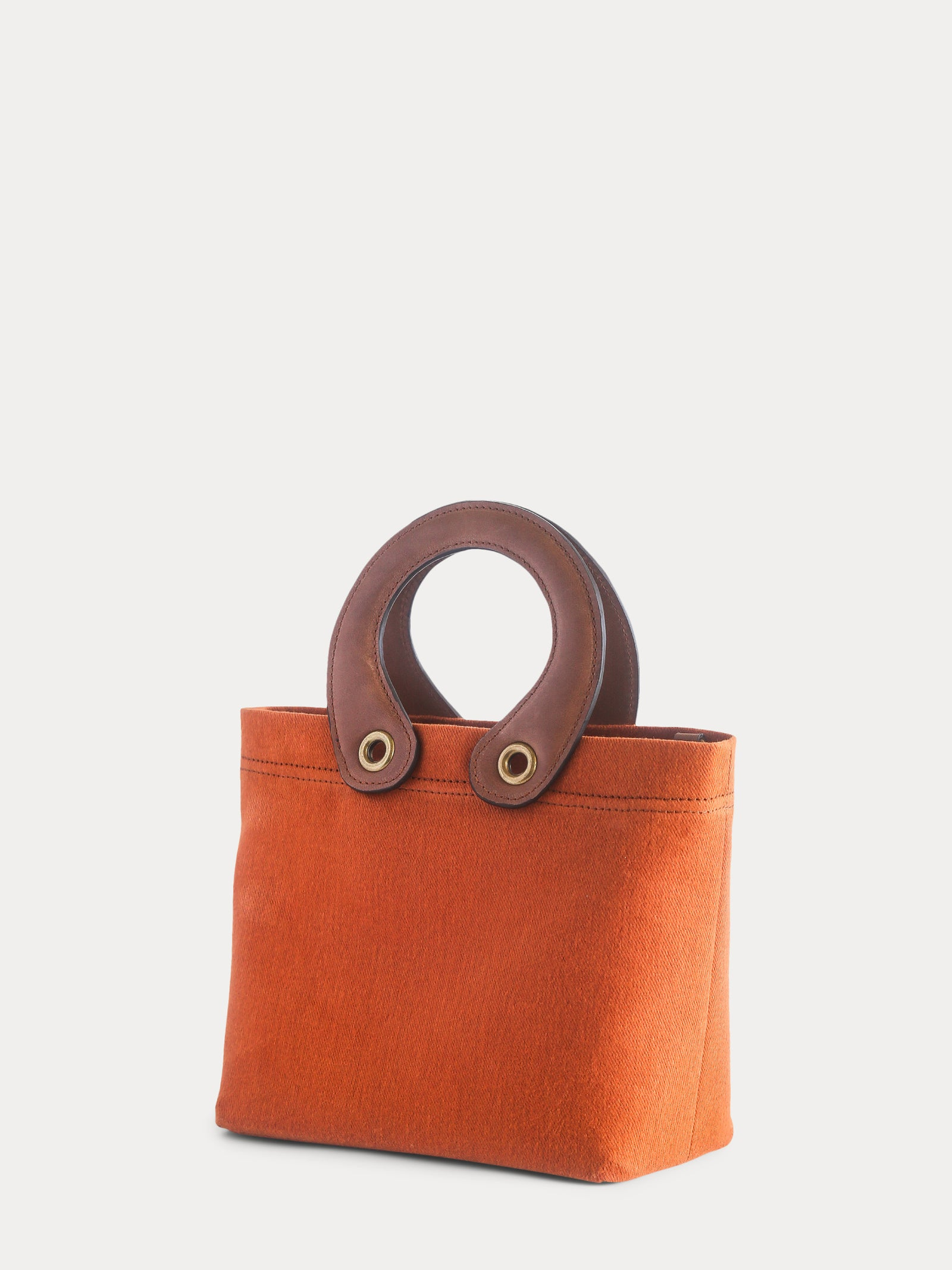 orange canvas mini tote
