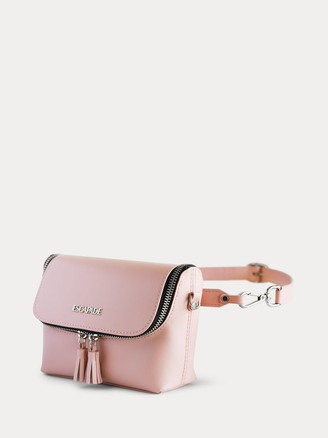 Pink Leather Belt Bag
