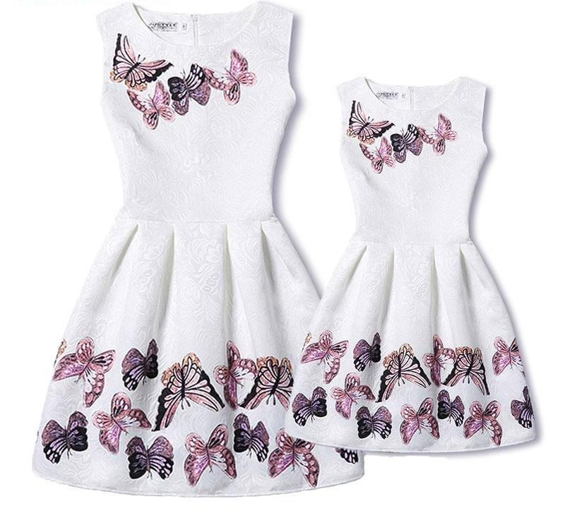 Mother&Daughter Butterfly Family Matching Dresses
