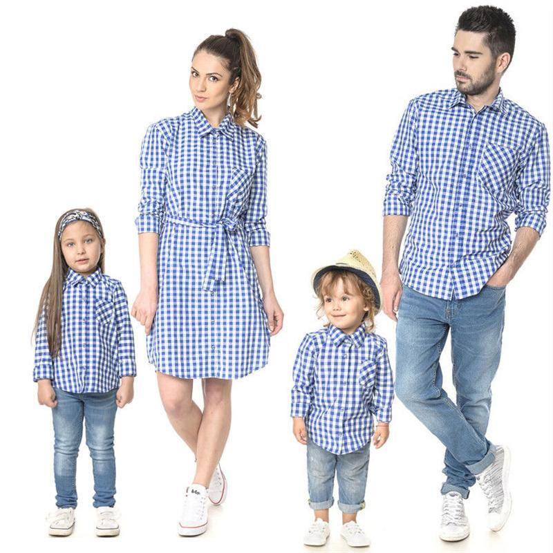 family matching fashion shirt for summer