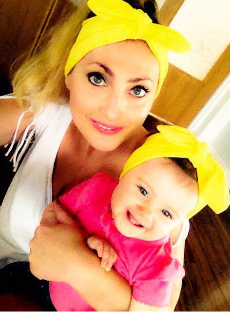 Mother & Baby Girls Turban Hair band