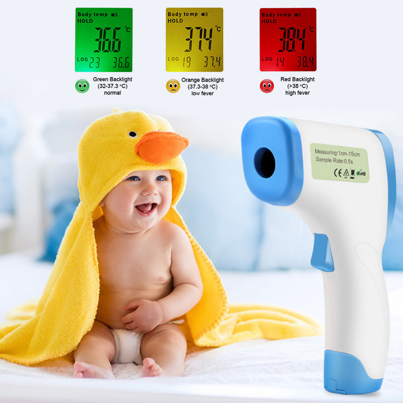Auto Forehead LCD Non-Contact Baby/Adult Infrared Digital Thermometer Fever
