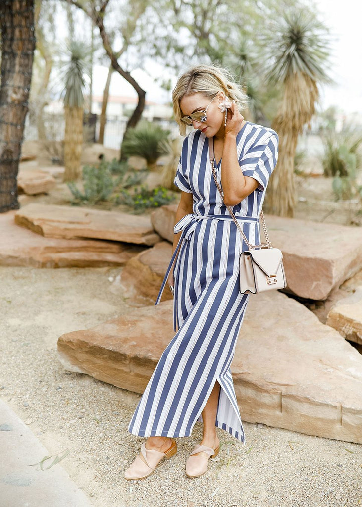 Luxury Striped Dress